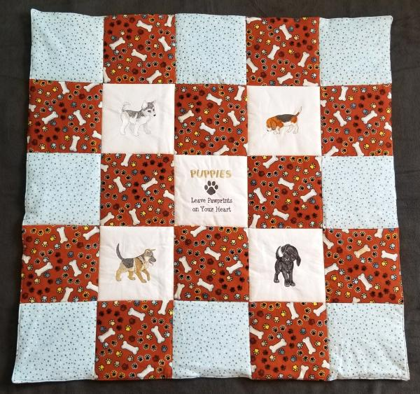 Puppies Soft Flannel Blanket picture