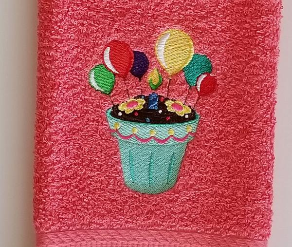 Birthday Balloon Hand Towel