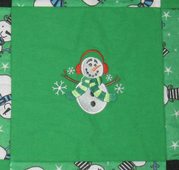 Cute Snowman and Snowflake Soft Flannel Blanket picture