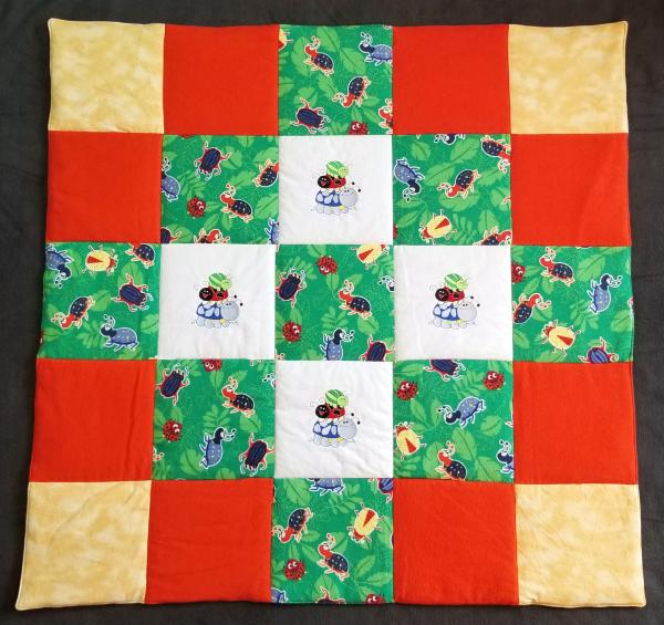 BEETLES and LADYBUGS Soft Flannel Blanket