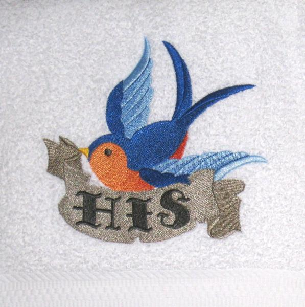 Colorful Swallows 4 pc Bath and Hand Towel set picture