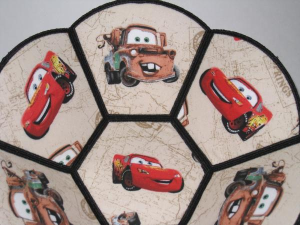 Cars Lightning McQueen and Mater Disney Decorative Fabric Bowls