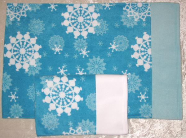 SNOWFLAKES Adult Size Fleece Pillowcase