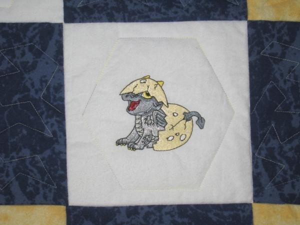 Boy or Girl Baby Hatching Dragons Soft Flannel Blanket picture