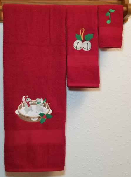 Christmas Music 3 Piece Towel Set