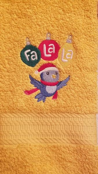 Christmas Ornaments and  Bluebird Towels picture