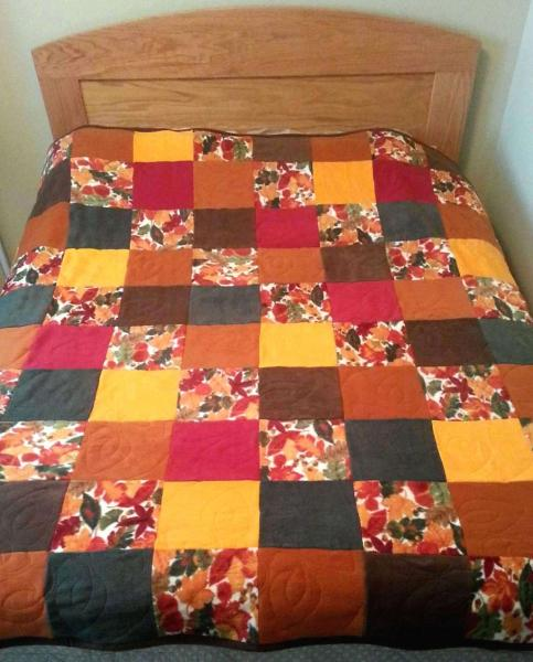BEAUTIFUL AUTUMN QUILTED Fleece Blanket Soft Blanket for Twin or Full Bed