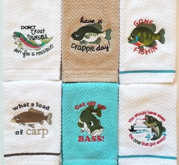 Fish Sayings Towels and Towel Sets