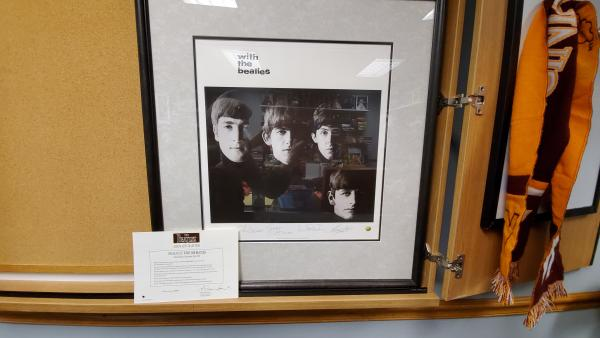 With the Beatles print