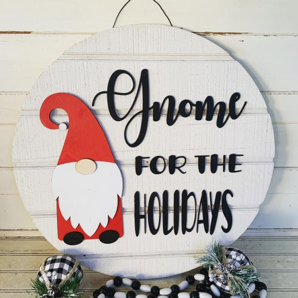 Gnome for the Holidays  door hanger