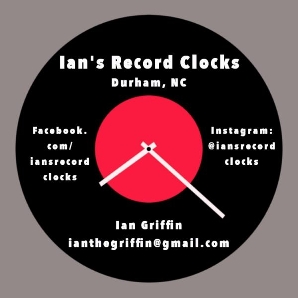 "Record Clock - ""I"" Artists  - Huge selection! see Variations below for full list!"
