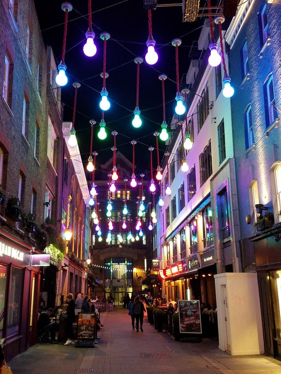 """Under the Lights at Carnaby Street"""