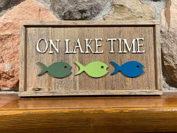 Wall Plaque - On Lake Time