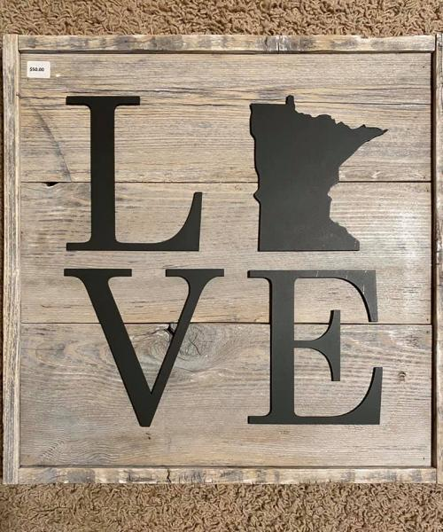 Wall Plaque - MN Love