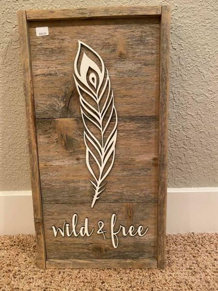 Wall Plaque - Feather Wild