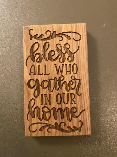 Small Wood Block Plaque - Gather Home