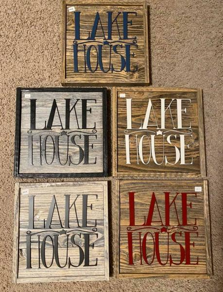 Wall Plaque - Lake House
