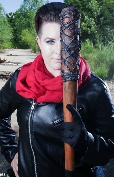 Negan The Walking Dead signed 11x17 Cosplay Print