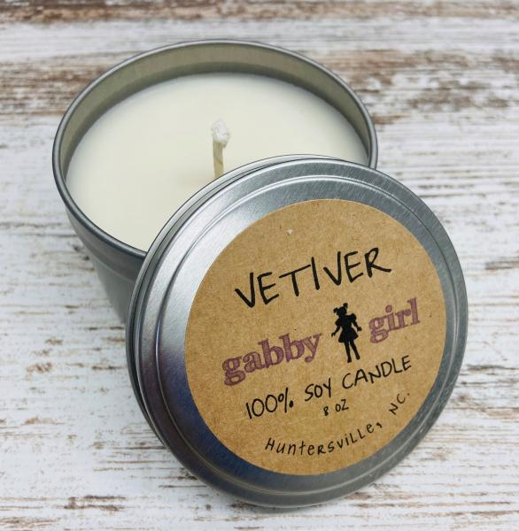 Vetiver Scented Soy Candle (8oz)