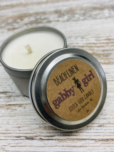 Beach Linen Scented Soy Candle (2oz)