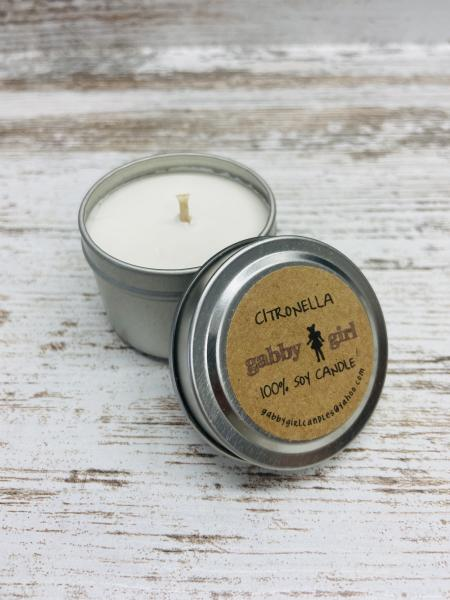Citronella Scented Soy Candle (2oz)