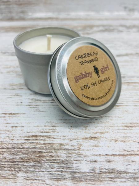 Caribbean Teakwood Scented Soy Candle (2oz)