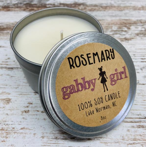 Rosemary Scented Soy Candle (8oz)