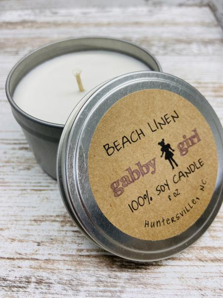 Beach Linen Scented Soy Candle (8oz)