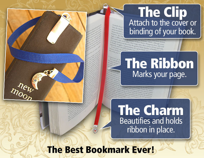 Rose bookmark / Beauty and the Beast bookmark / Belle bookmark  Attach clip to book cover then mark page with the ribbon. picture