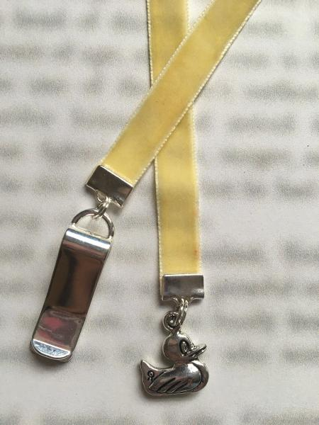 Duck bookmark / Cute Duck Bookmark / Mallard  - Attach to book cover then mark page with ribbon Never lose your cute bookmark