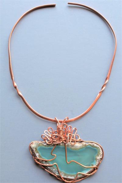 Quinn Copper Wire Wrapped Agate Choker picture