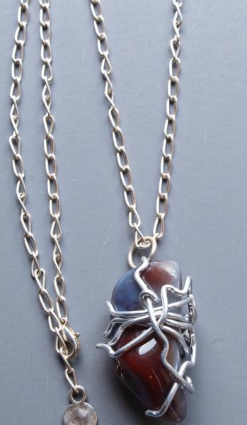 Nova Wire Wrapped Stone Necklace