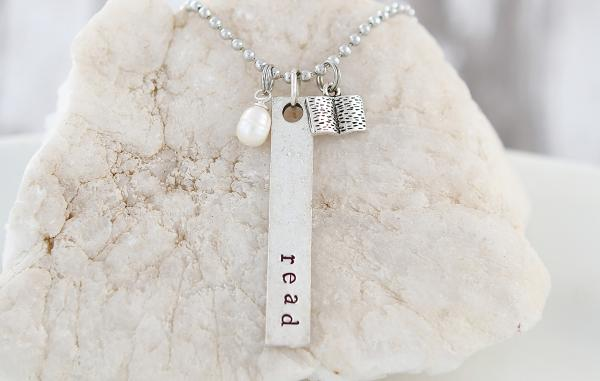 Read Hand Stamped Necklace picture