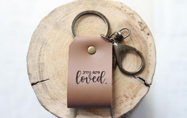 You Are Loved Leather Keychain