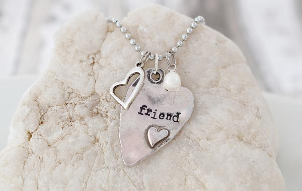 Friend Hand Stamped Necklace picture