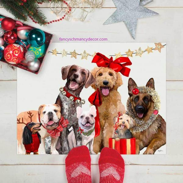 Holiday - Festive Puppy Pack Floorcloth