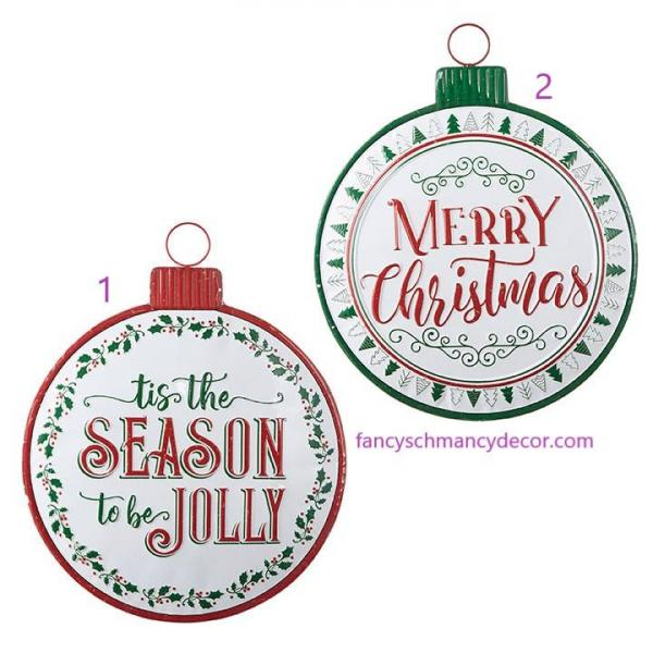 "19.75"" Holiday Message Ornament Sign by RAZ Imports picture"