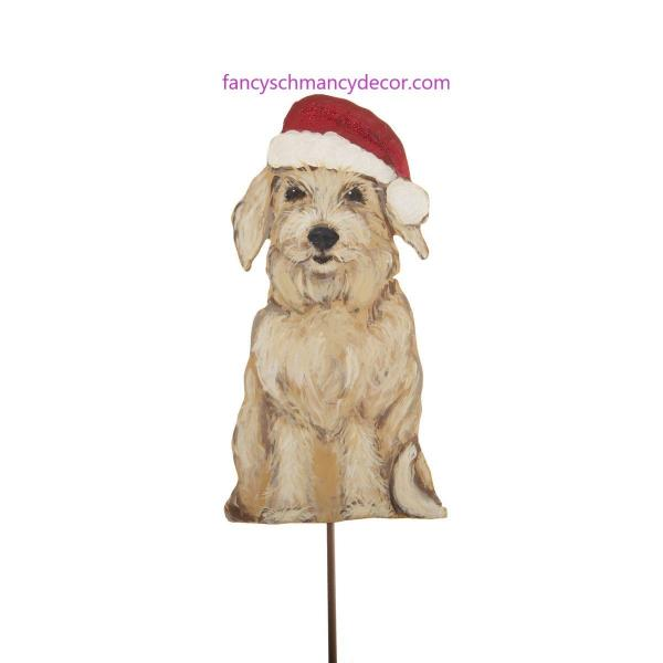 Merry Mutt in Santa Hat by The Round Top Collection