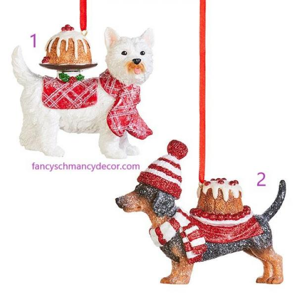 "4"" Pupcake Dog Ornament Assorted Set of 2 by RAZ Imports picture"