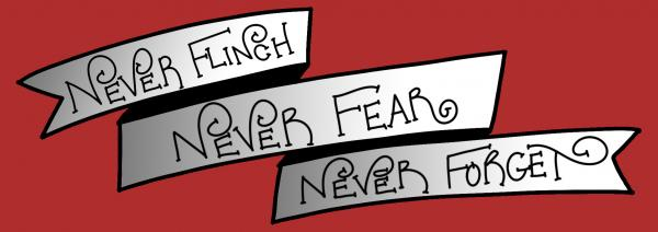 Never flinch - Nevernight Bookmark picture