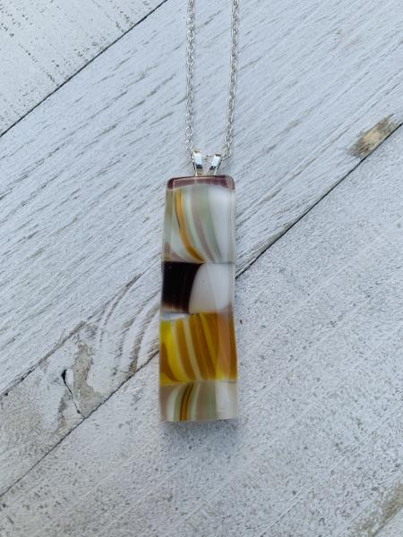 Yellow and tan pendant picture