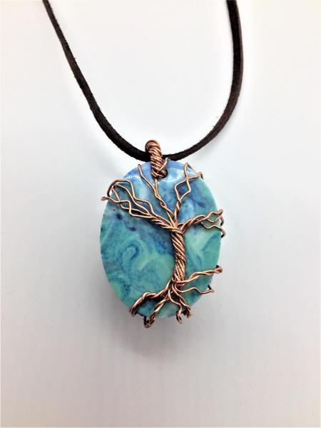 Tree of Life Wire-Wrapped Resin Pendant