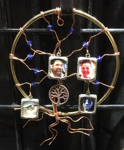 Small Sun Catcher with 4 photo frames