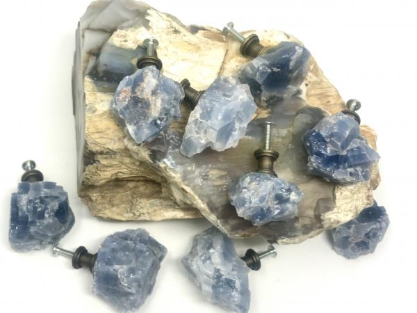 Blue Calcite Drawer Pulls picture