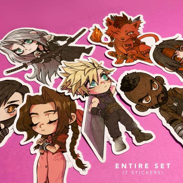 Final Fantasy 7 Stickers