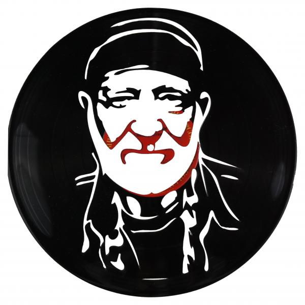 Willie Nelson Vinyl Record Art