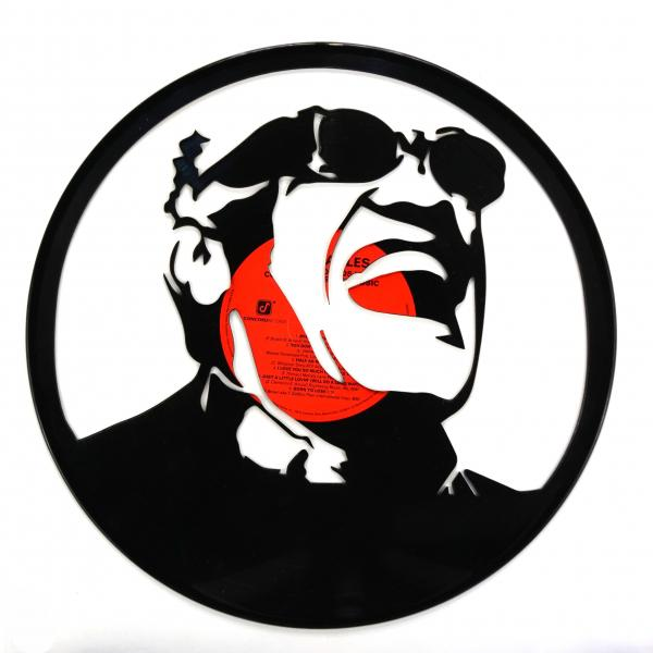 Ray Charles Vinyl Record Art