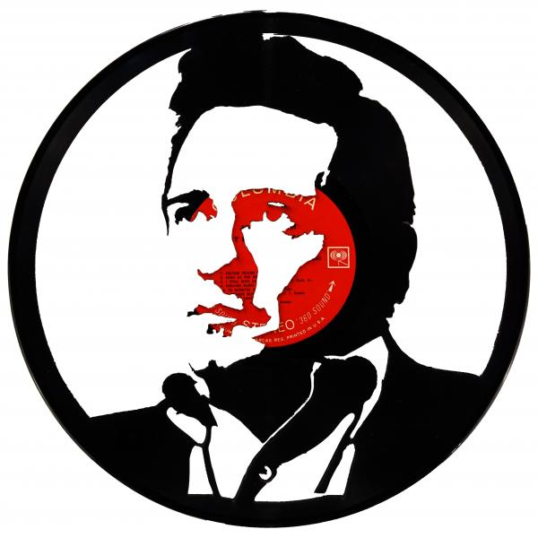 Johnny Cash Vinyl Record Art
