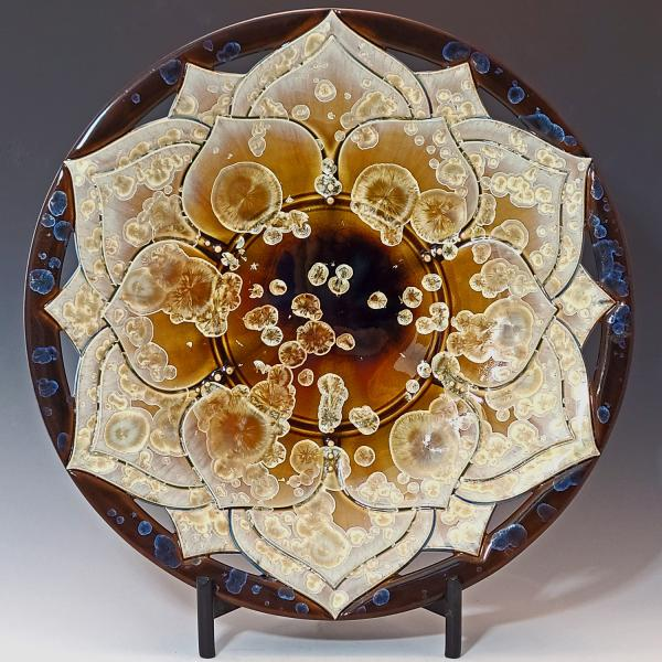 Large Porcelain Platter with Crystalline Glaze