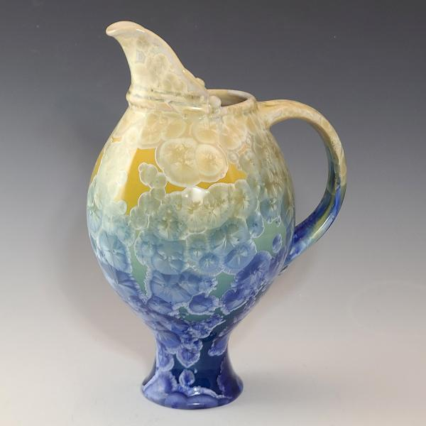 Porcelain Pitcher with Crystalline Glaze